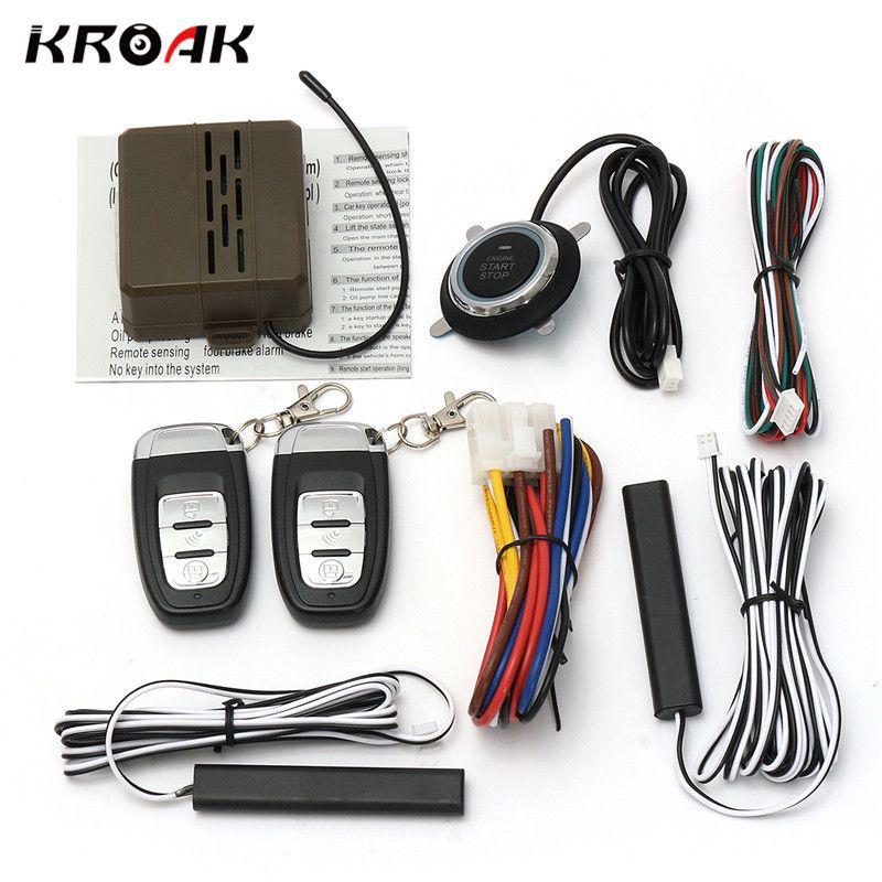 Kroak Car Starline Smart E Model Remote Control Car Alarm Start Keyless Entry System Push Button Start Stop System Car Accessory