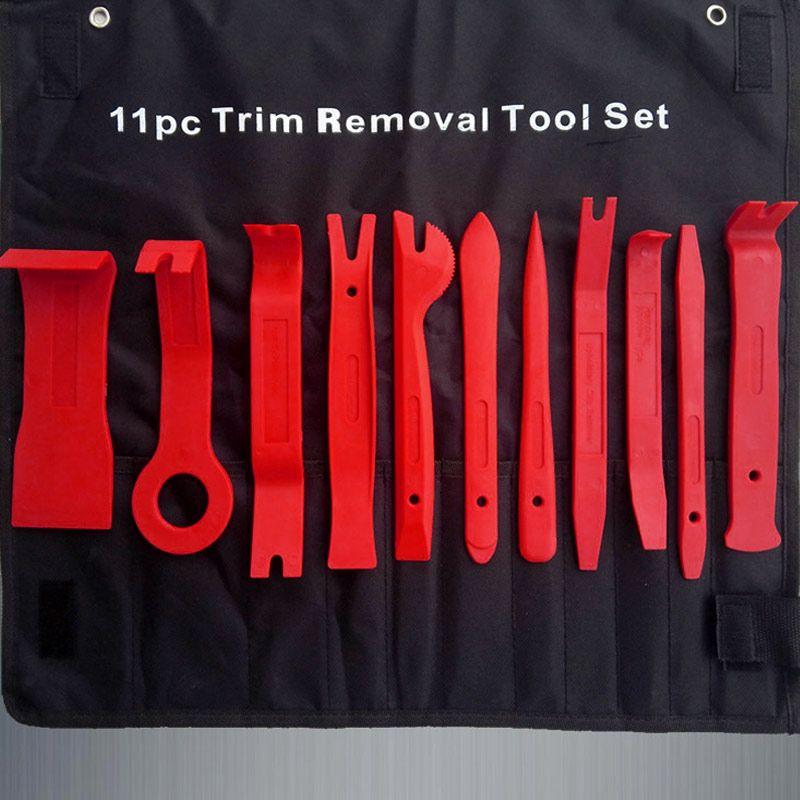 11Pcs Universal  Auto Plastic Trim Door Panel Window Molding Upholstery Clip Removal Tool Kit CSL2017