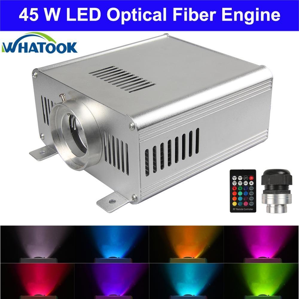 DIY RGBW 45W LED Fiber Optic Engine 24key RF Remote controller LED fiber optic light source engine for all kinds fiber optics