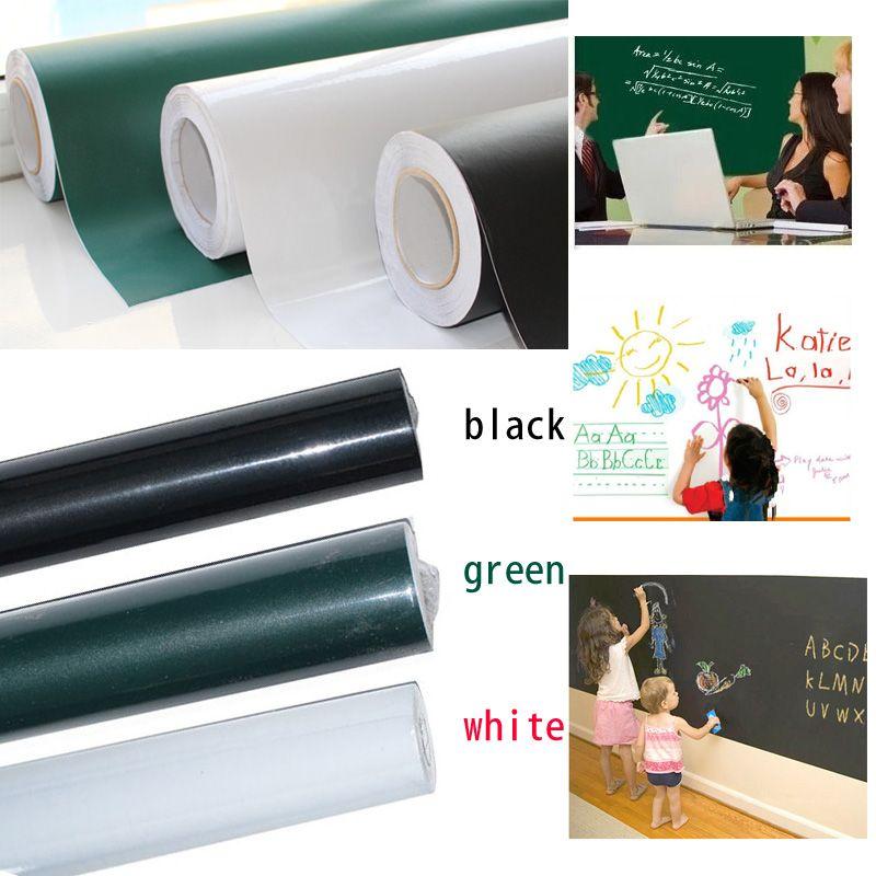 60x200 cm Conseil Chalk Blackboard Autocollants Amovible Vinyl Tirage Décor Peint Stickers Art Tableau Sticker Mural Pour Enfants chambres