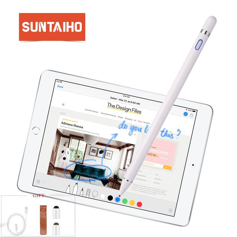 Pour apple crayon 2 Suntaiho nouveau stylet capacité tactile crayon pour apple ipad crayon pour iPhone XS MAX avec emballage de vente au détail