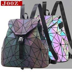Luminous Backpack stitching Lattice Bag Men Women Backpack for Travel girl School Bag for Student's Backpack Hologram sac a dos