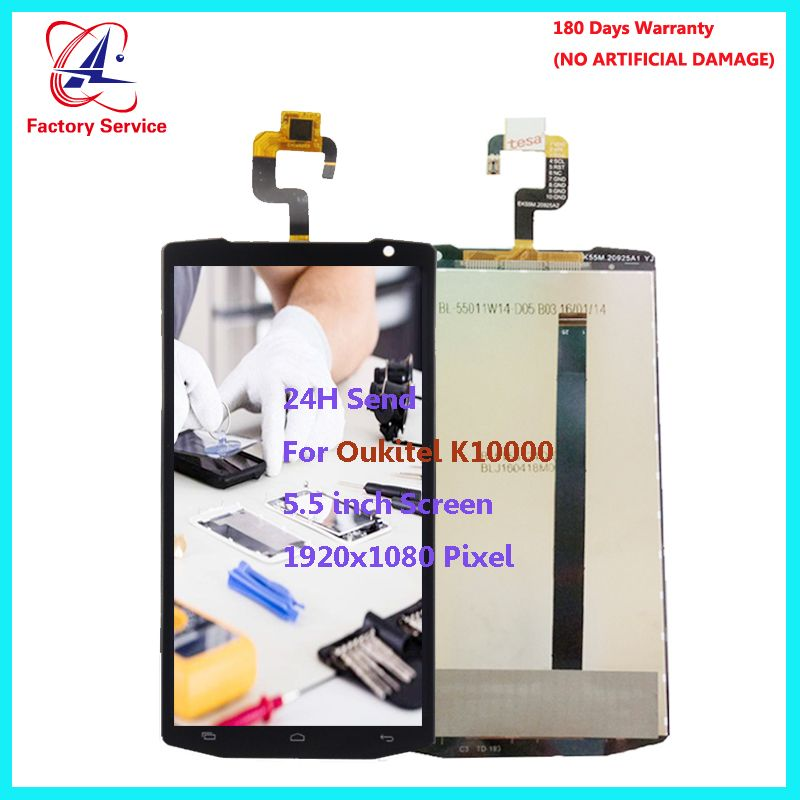 For Original Oukitel K10000 LCD Screen Display+Touch Screen Digitizer Sensor Assembly Replacement 5.5