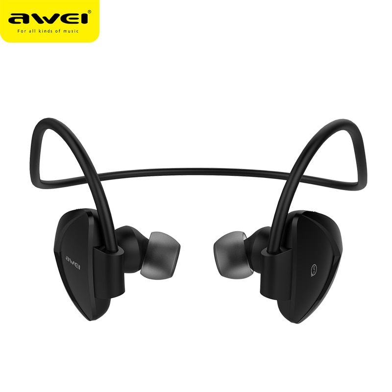 Awei A840BL Wireless Bluetooth Earphones Sport Sweatproof Earphone With Microphone Noise Reduction Neckband HiFi Earbuds