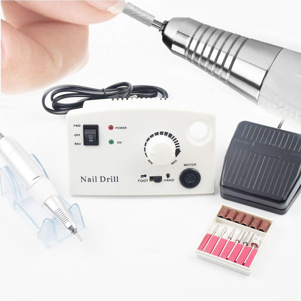 Pro 35000RPM Electric Nail Drill Machine Diamond Nail File Drill Machine Maniure Cutter And Pedicure Drill Polish Bits Tools