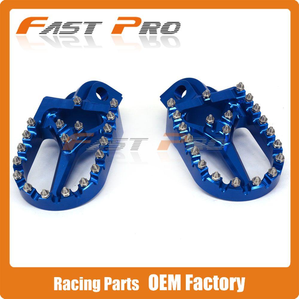 Billet CNC Foot Pegs Rests Pedals For HUSABERG TE125 TE250 FE350 FC350 FC400 FE450 FX450 FE501 FE550 FE600 FC600 FS650 All Model