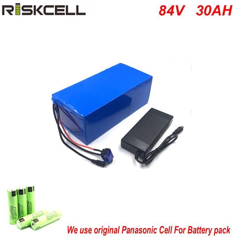 Keine steuern 84 v 4000 watt e-bike-akku 84 v 30ah 23s10p lithium-lithium-ionen-akku mit 96,6 V 5A ladegerät + 50A BMS Für Panasonic Zelle