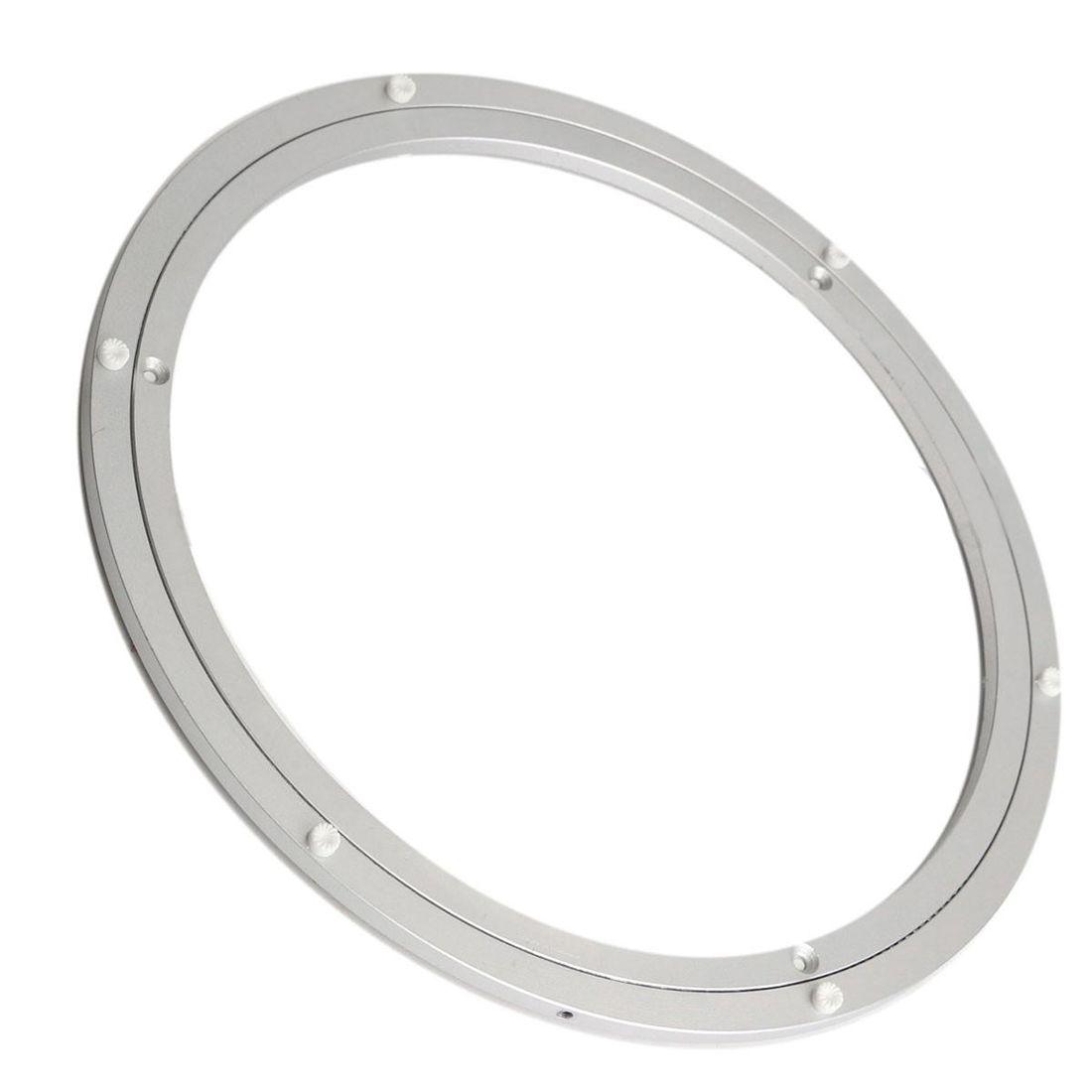 Aluminium Rotating Turntable Bearing Swivel Plate 16 Inch Silver