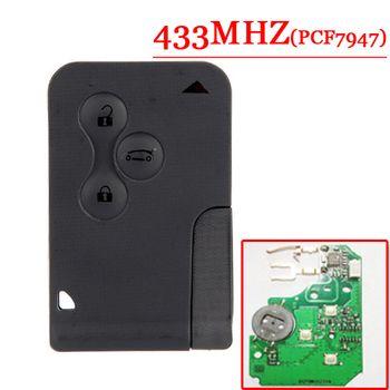 Бесплатная доставка Лучшая цена (1 шт.) отличное качество 3 кнопки смарт-карты для Renault Megane Scenic с 7947 чип 433 мГц