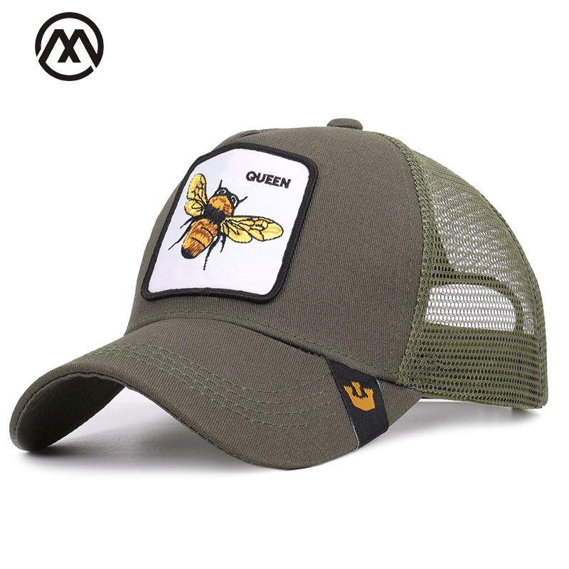 Été animal broderie casquette de baseball mode maille dessin animé abeille canard extérieur ombre unisexe haute qualité coton respirant coq chapeau