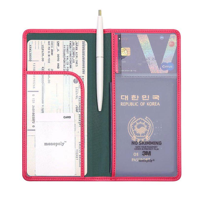 6 Color Long/Short  Women Men Passport Holder Brand  Protective Sleeve Travel Passport Case Cover