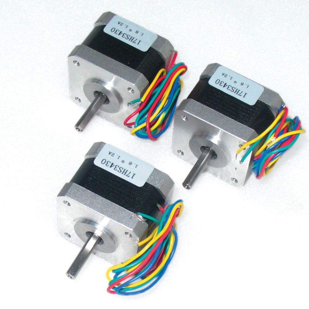 3PCS Nema17 stepper motor 34mm /38 oz-in/1.2A CNC stepper motor for CNC Robot 3D Makebot Reprap Printer etc.