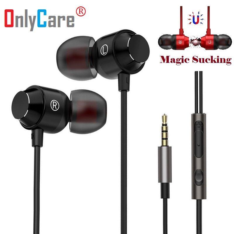 Qualité supérieure Magnétique Métal Lourd Basse Écouteur Pour Doogee S55 Casque écouteurs oreillettes Fone De Ouvido