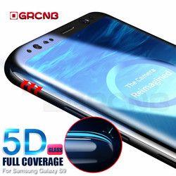 5D Courbe Plein Écran Protecteur Pour Samsung Galaxy S9 S8 Plus Note 8 En Verre Trempé Film Pour Samsung Galaxy S8 S9 Plus cas
