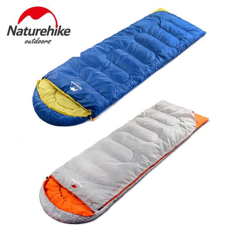 NatureHike Ultralight Camping Sleeping Bag Adult Tents Cotton Filler Envelope Outdoor Warm Spring Autumn Hiking Bags 2.2*0.75M
