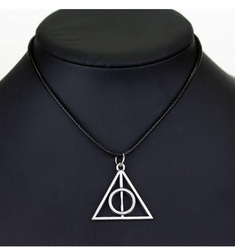 Wellcomics Harri Potter Heiligtümer des todes Symbol Metall Handgemachte Anhänger Halskette Seil Strap Kette Ornament Cosplay Sammlung Geschenk