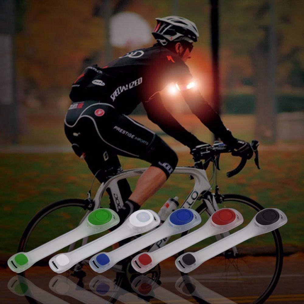 1 шт. Светоотражающие Детская безопасность пояса рука ремень ночной Велоспорт Бег светодиодный свет повязки