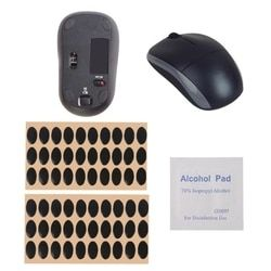60 Pcs Keyboard Mouse Kaki Stiker Teflon Mouse Kaki Mouse Skates Bantalan-untuk Logitech M215/M310/M325