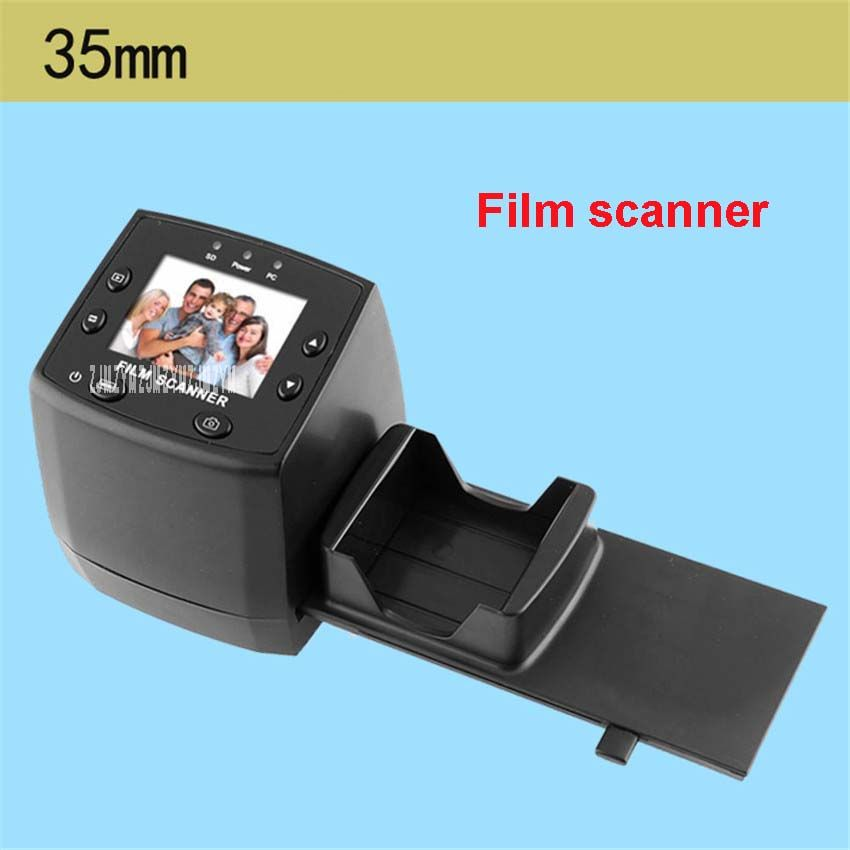 New Film Negatives Slides Scanner 1800dpi Precison TM Lens TV Out Digital Film Scanner 35mm film transfer to JPG film scanner