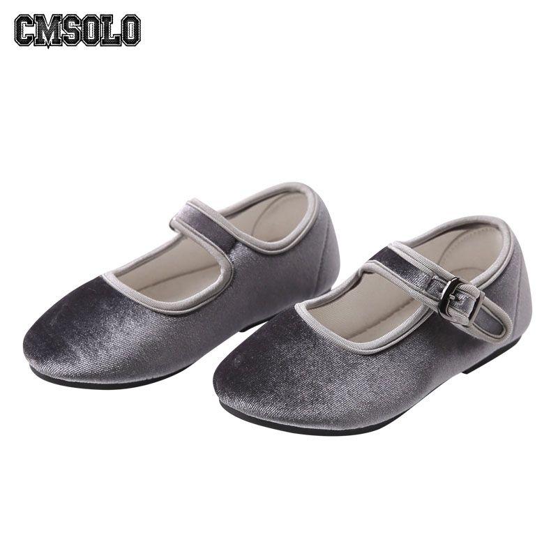 CMSOLO Girls Shoes Velvet Spring Princess Casual Kids Infant Footwear Soft Vintage Child Cute Baby Girls Shoes Toddler Brand Hot