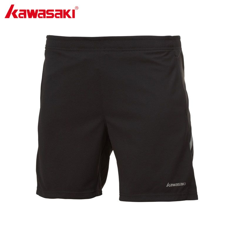 KAWASAKI Black Running Shorts for Men 100% Polyester Quick Dry Anti-sweat Fitness Workout Gym Sports Shorts SP-173606