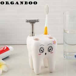 1 PC Creative mode dents forme brosse à dents siège sourire visage brosse à dents titulaire belle brosse à dents plateau salle de bains accessoires