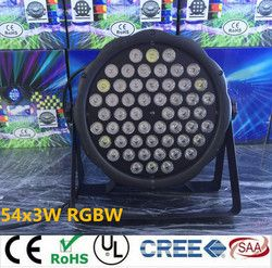 led par lights 54x3W  DJ Par LED RGBW Wash Disco Light DMX Controller effect  Free Shipping