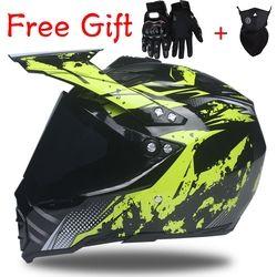 Nueva dirt bike motocross Road Racing casco dot aprobado cascos doble propósito casco con visera