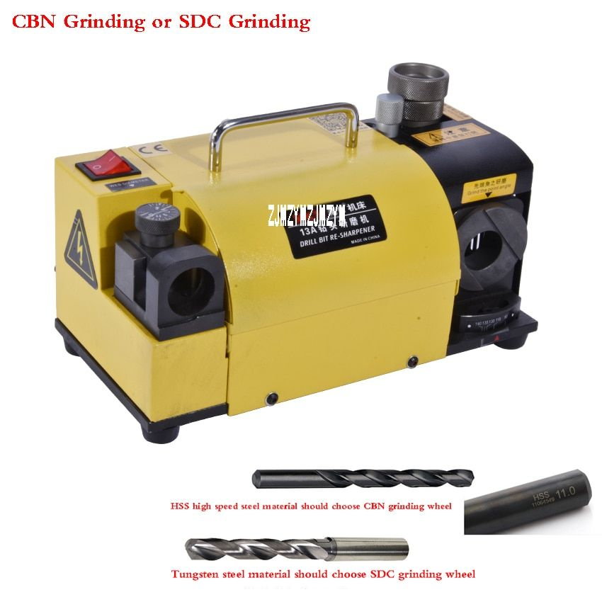 MR-13A Drill Bit Sharpener Drill Grinder Grinding Machine portable carbide tools, 2-13mm 100-135Angle drill point grinder