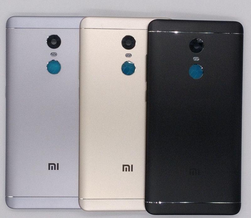 Nouveau Pour Xiaomi Redmi Note 4X32 GB (Snapdragon 625) Pièces de rechange Retour Couvercle de La Batterie + Boutons Latéraux + Caméra Flash Lentille de Remplacement