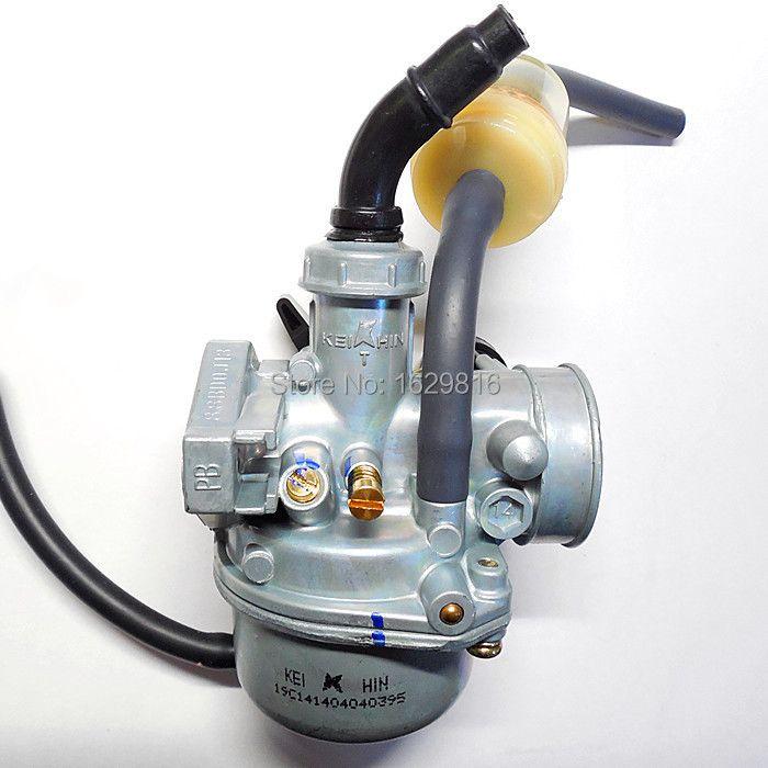 Carburateur de moto 19mm carbus Keihin PZ19 pour kart ATV 50 ~ 70 ~ 90cc ou moteur horizontal (usinage de CNC, bonne qualité)