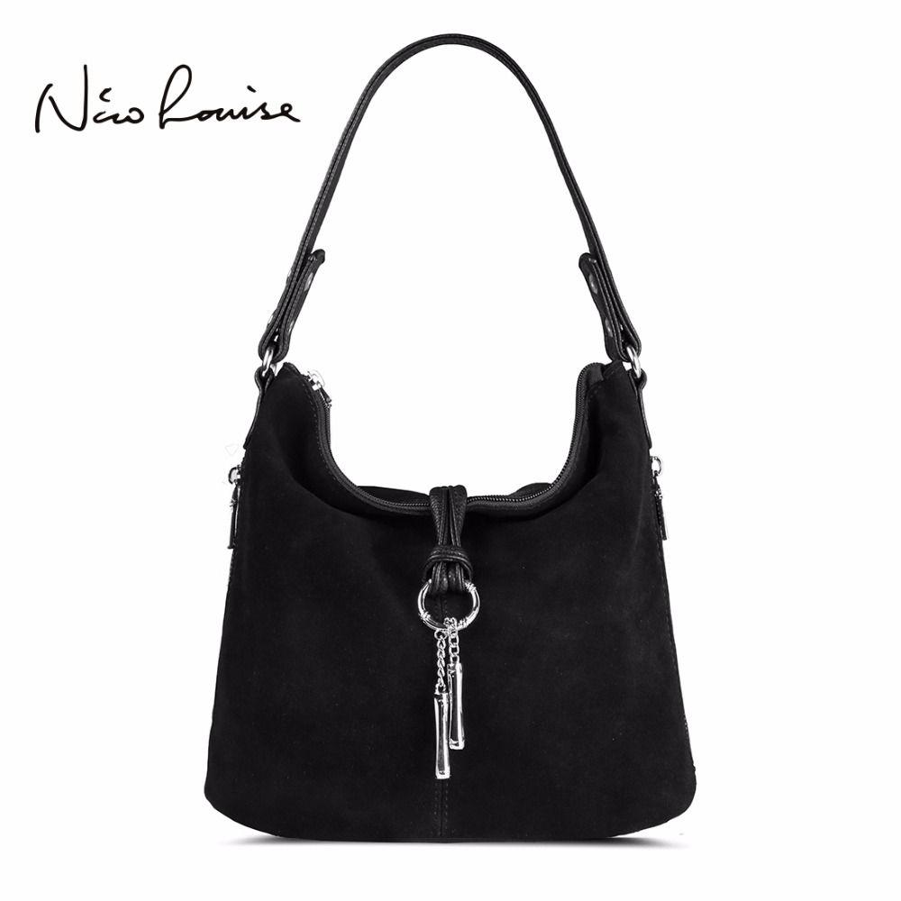2018 Fashion Women Split Leather Shoulder Bag Female Suede Casual Crossbody handbag Casual Lady Messenger Hobo Top-handle Bags