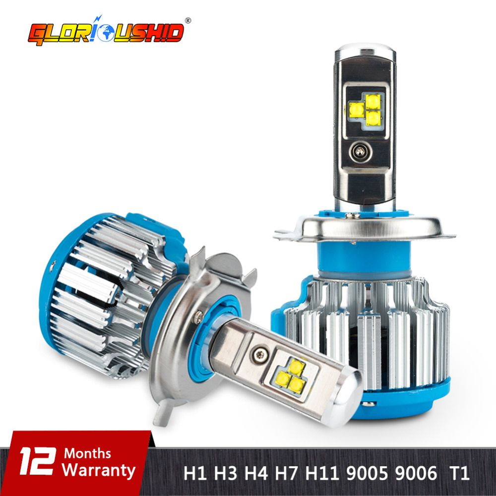 H7 LED H4 H1 H3 H11 H8 H9 9005 9006 HB4 70W 7000lm Car Headlights Front Fog Light Bulb Automobiles Headlamp 6000K Car Lighting