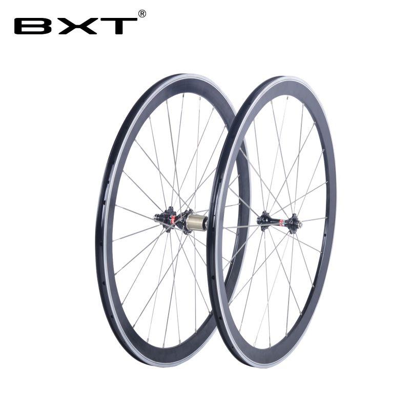 2017 BXT 700C V-alloy bremse räder KEINE kohlenstoff rennrad aluminium drahtreifen laufradsatz novatec nabe chinesischen fahrrad räder