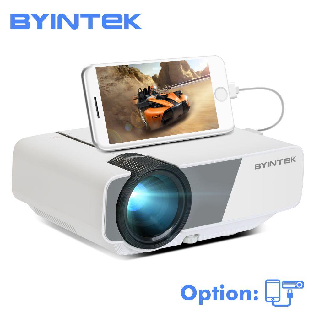BYINTEK CIEL K1/K1plus LED Portable Home Cinéma HD Mini Projecteur (En Option Filaire Affichage Sync Pour Iphone Ipad téléphone Tablet)