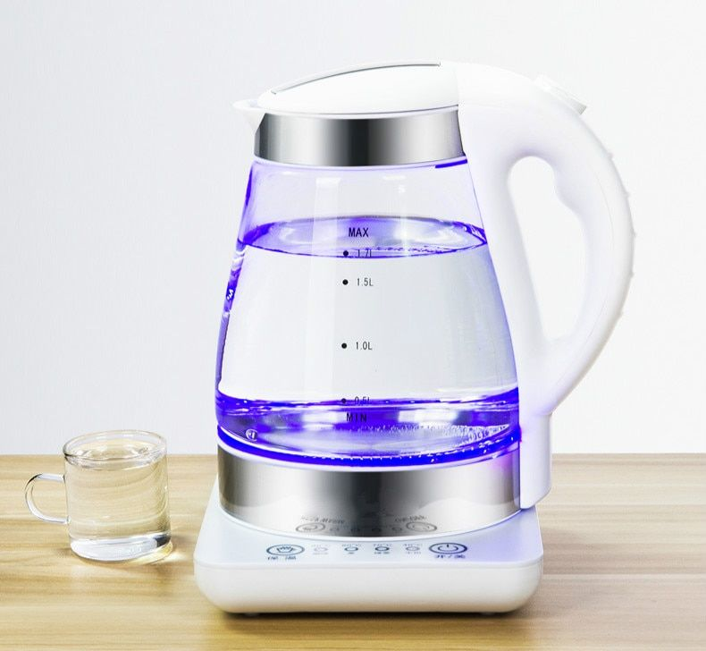 Electric kettle with constant temperature tempering glass insulation Overheat Protection