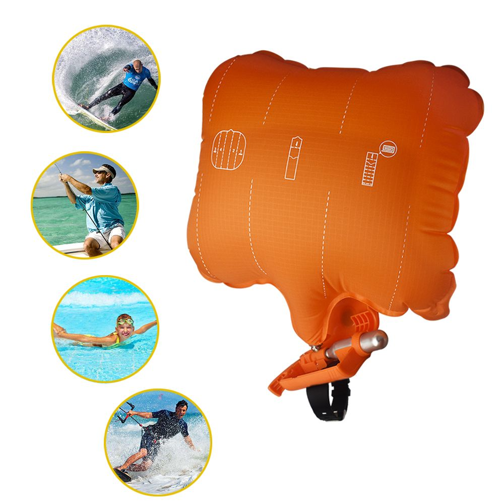 Anti Drowning Portable Lifesaving Bracelet Float Wristband With Co2 Cylinder Inflatable Bladder Outdoor Swim <font><b>Surf</b></font> Self Rescue