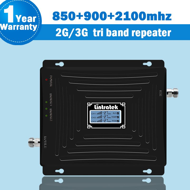 850/900/2100mhz Repetidor 2G 3G Mobile Cellular Signal Booster 3G Repeater CDMA 850/UMTS 2100 +900 Repetidor with LCD Display 39