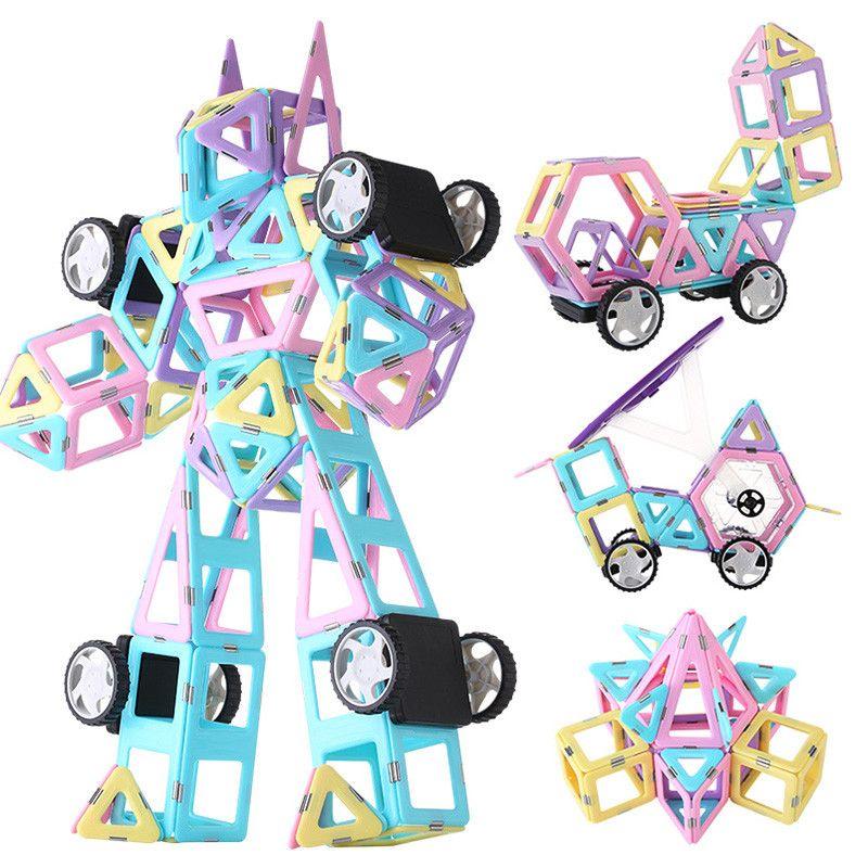 197pcs Big Size Magnetic Designer Construction Set Model & Building Toy Plastic Magnetic Blocks Educational Toys For Kids Gift