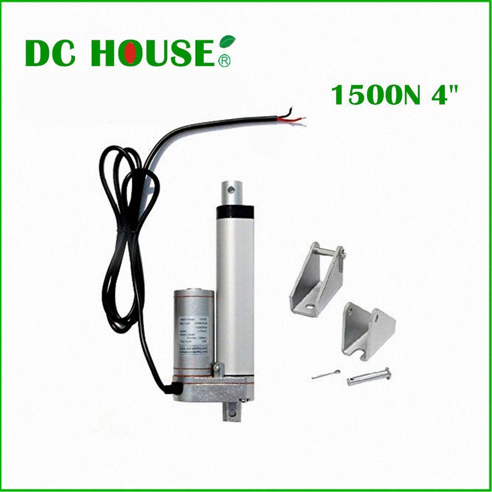 Free shippingmini linear actuator 100mm stroke 12V DC 5.7mm/s 1500N=150KG load linear actuator linear tubular motor motion