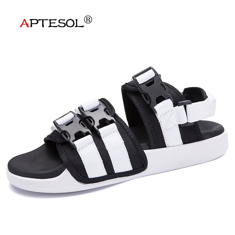 APTESOL Men's Casual Beach Sandals Fashion Leisure Outdoor Men Shoes Non-Slip Rubber Sneakers sapato masculino sandalias hombre