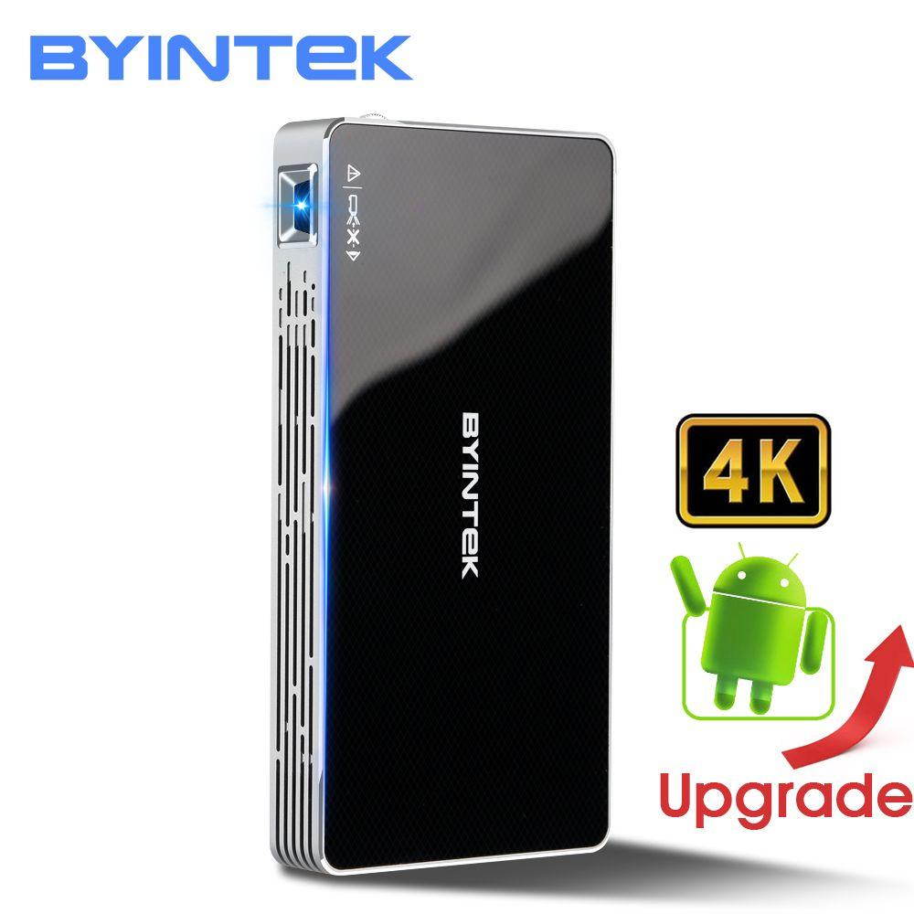 Projecteur de poche portable BYINTEK UFO MD322 home cinéma avec fonctions intelligentes Android 7.1.2 OS WiFi Mini projecteur HD LED haute définition résolution Full HD1080P MAX 4K HDMI