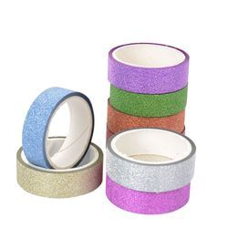 15mm*5m Glitter Washi Tape Set Japanese Stationery Scrapbooking Decorative Tapes Adhesive Tape Kawai Adesiva Decorativa