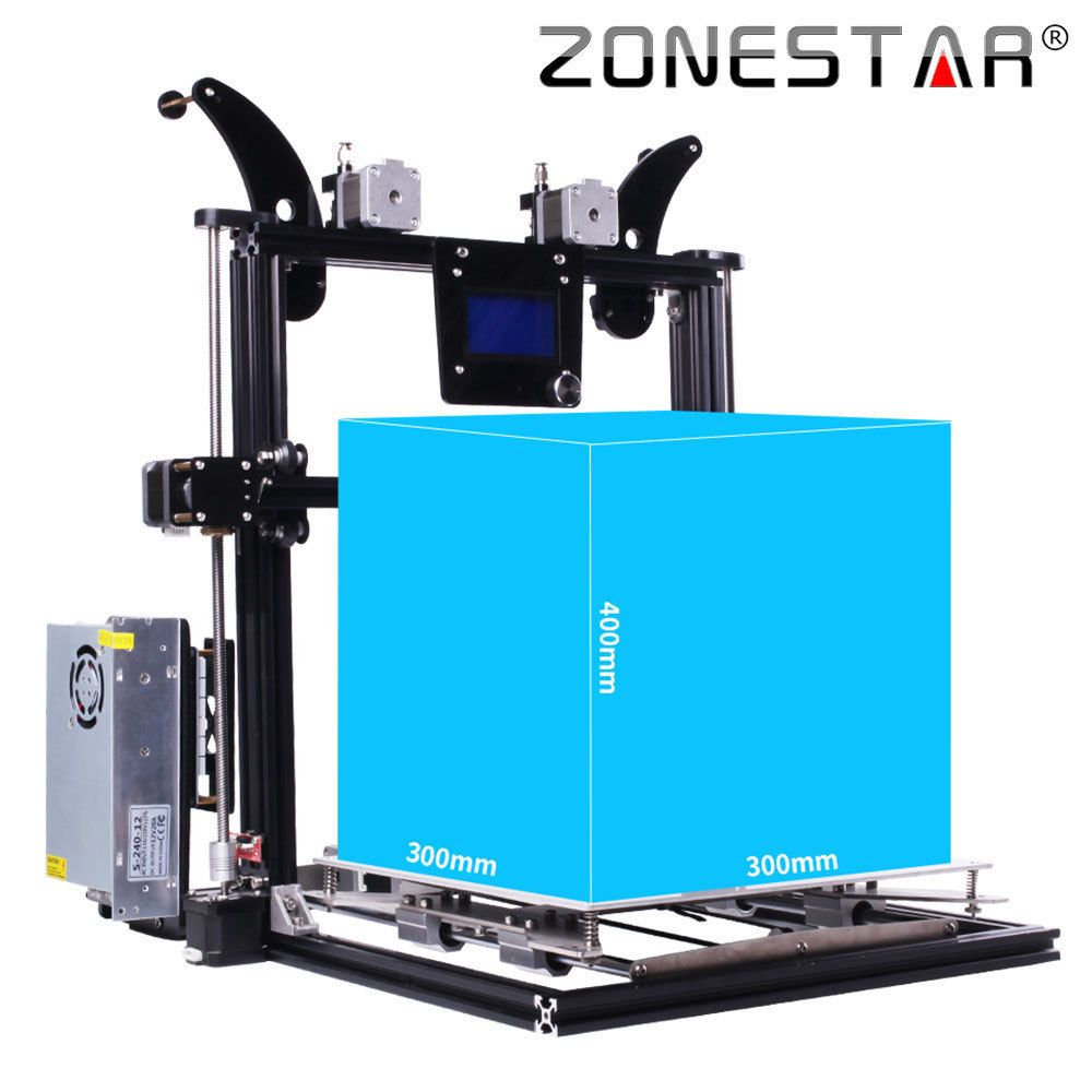 ZONESTAR Large Size 3d printer impressora 300x300x400mm Auto Level Laser Engraving Full Metal Aluminum Frame DIY kit