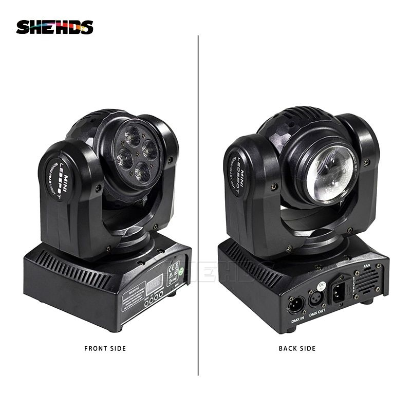 LED Beam Wash Double Sides 4 x10W+1 x10W RGBW 15/21 Channel DMX 512 Rotating Moving Head Stage Lighting for Indoor Disco Party