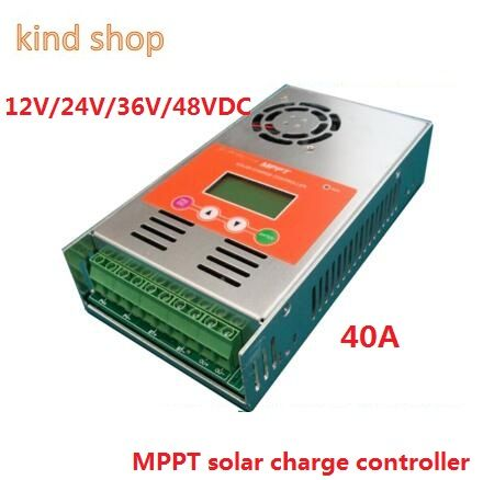 high quality with 2 years warranty 30A 40A 50A 60A 12V/24V/36V/48VDC auto work MPPT Solar Charge Controller
