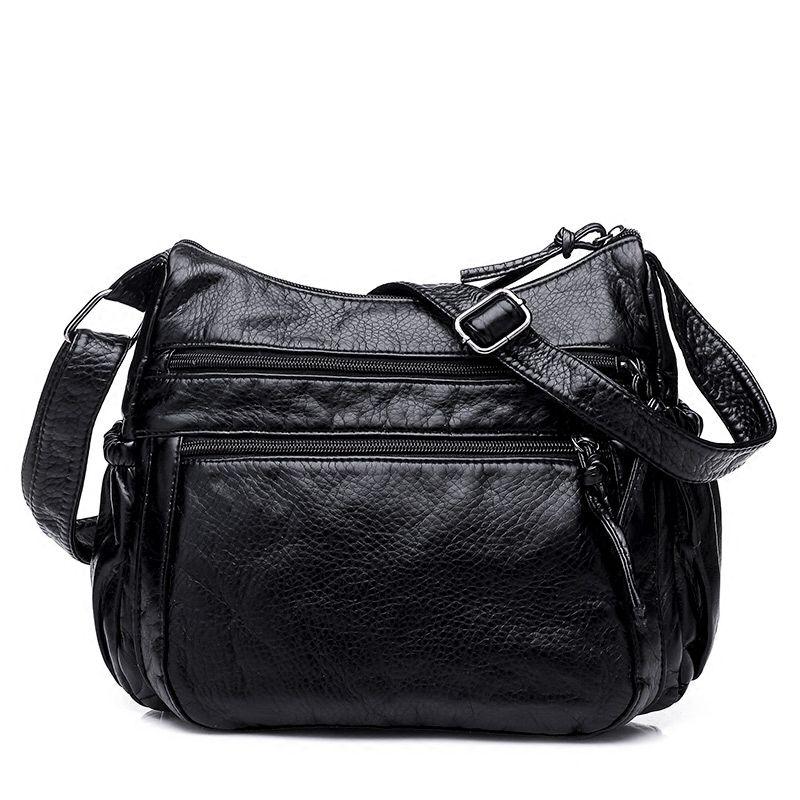 Vintage fashion Crossbody Bag Women's Flap PU Leather Bag Handbag Sac a Main Femme Ladies Messenger Bag Long Strap Female Clutch