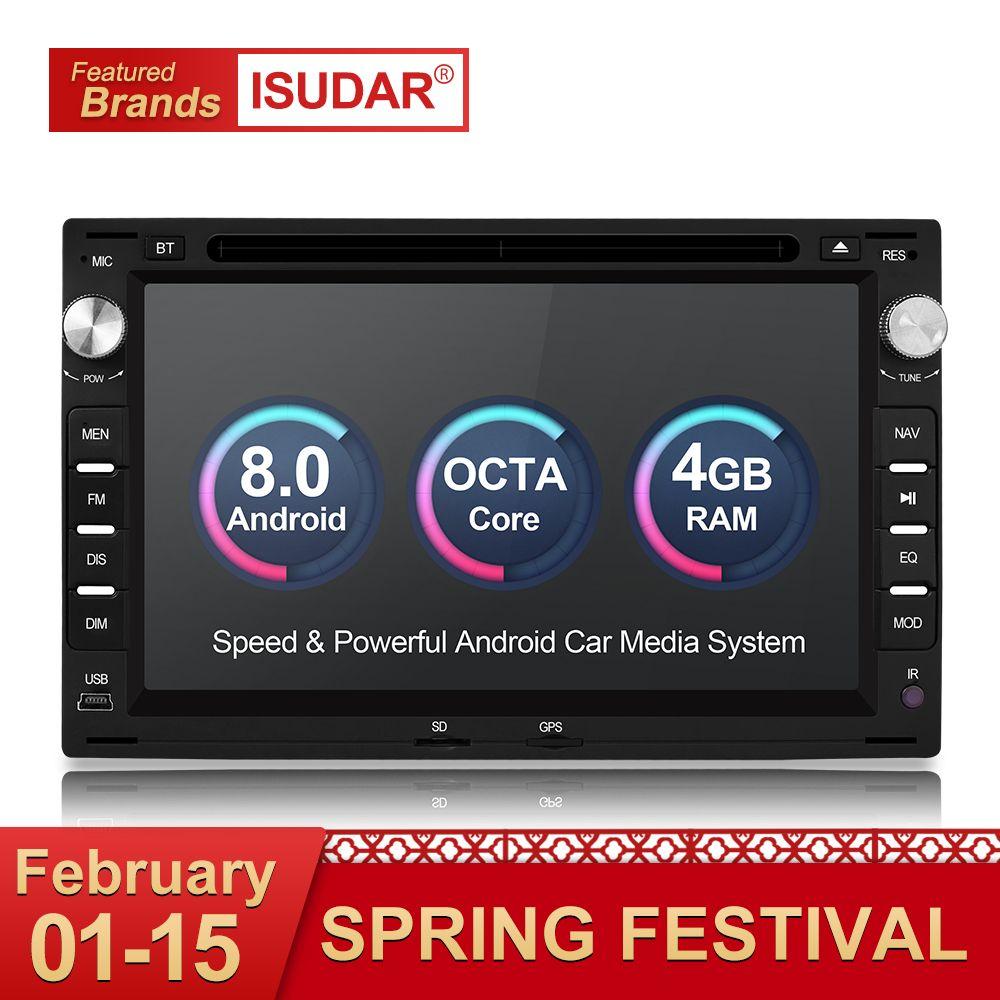 Isudar Auto Multimedia Player Android 8.0 2 Din Stereo System Für VW/Volkswagen/Passat/Golf/Skoda Octa core 4 GB RAM Wifi USB DVD