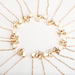 Крошечное золотое ожерелье с золотыми буквами инициалы имя ожерелья Персонализированная Подвеска для женщин девочек. Лучший подарок на де...