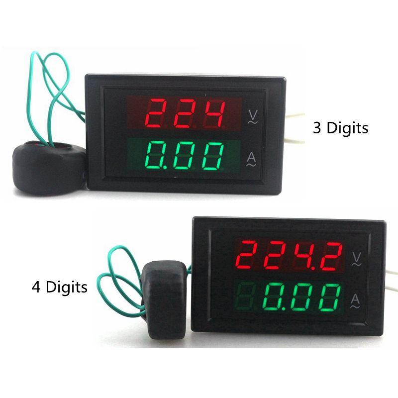 Digital AC Voltmètre Ampèremètre Ampèremètre AC 80-300 V 0-100A LED Volt Ampèremètre Tension Actuel Ampère Mètre de Panneau mètre